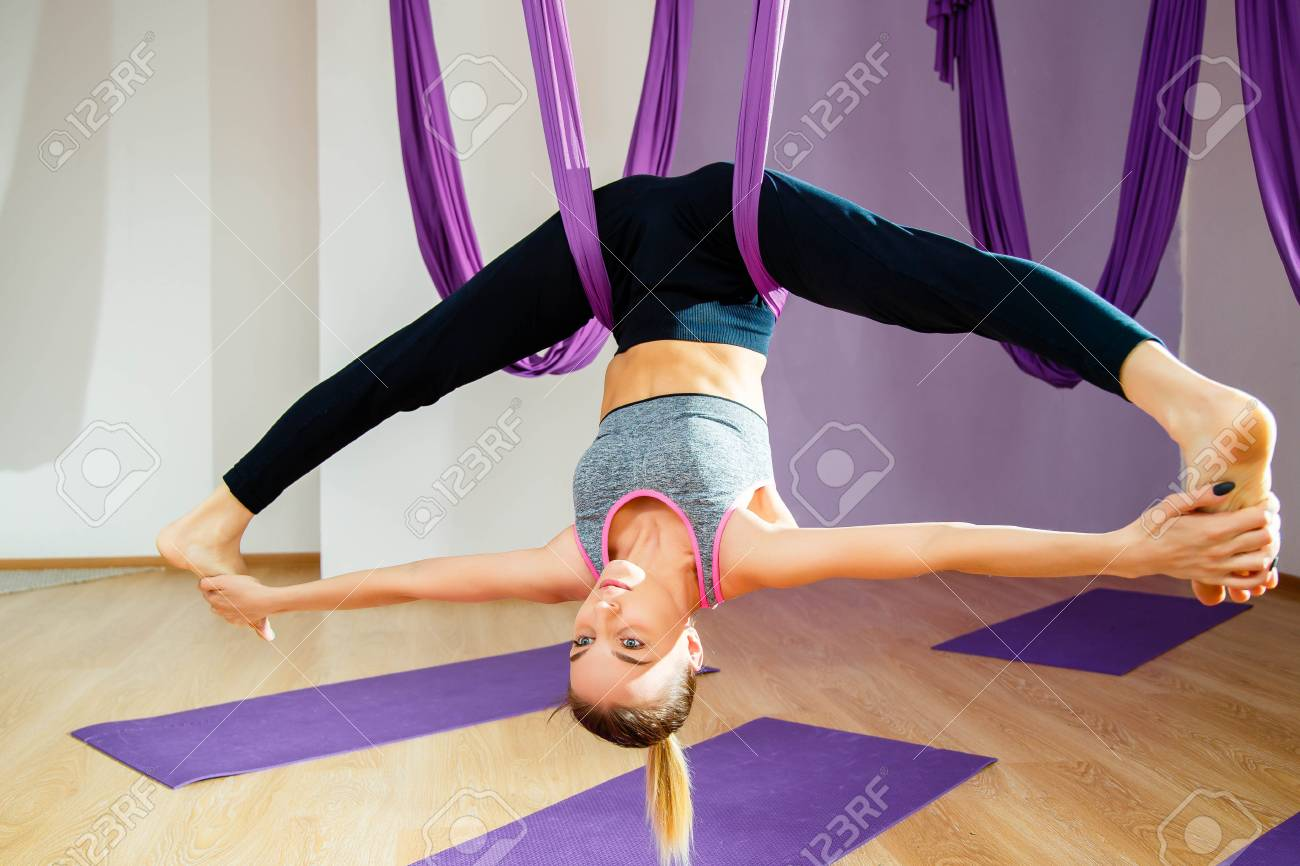 headstands aerial yoga should try and hammock heels you reasons