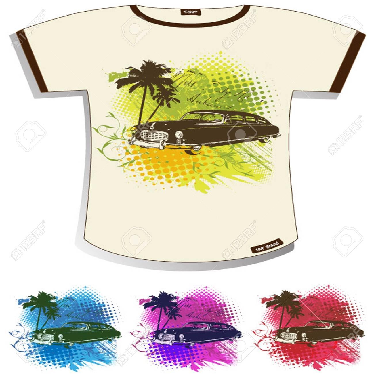 Abstract Grunge T-shirt Design Stock Vector - 13536928