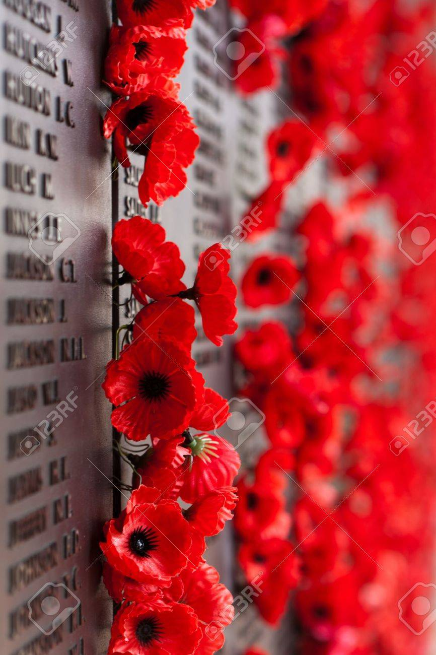 Australia War Memorial Red Poppy Flower Stock Photo Picture And