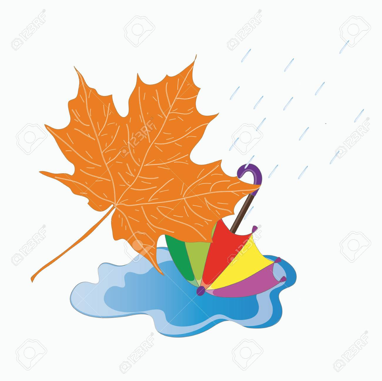Image result for autumn leaves and puddles clipart