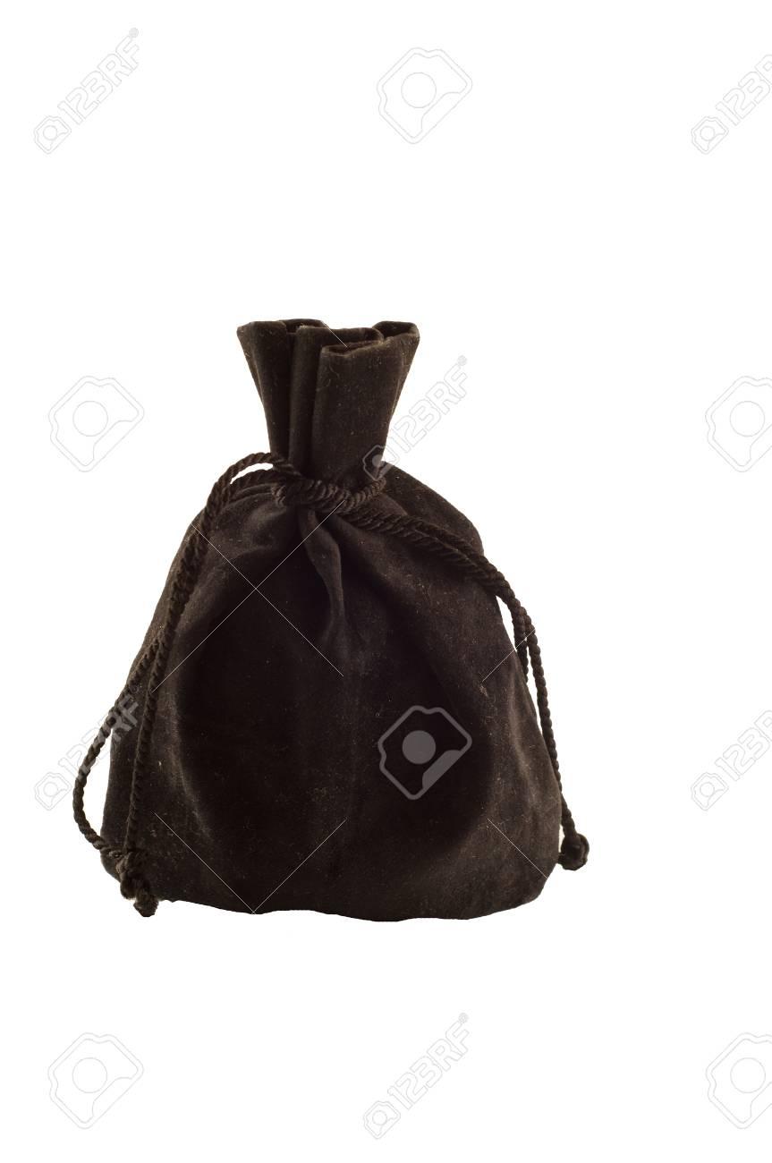 37c8a9477fa71 Alte schwarze Tasche isoliert auf weißem Hintergrund Standard-Bild -  38202487