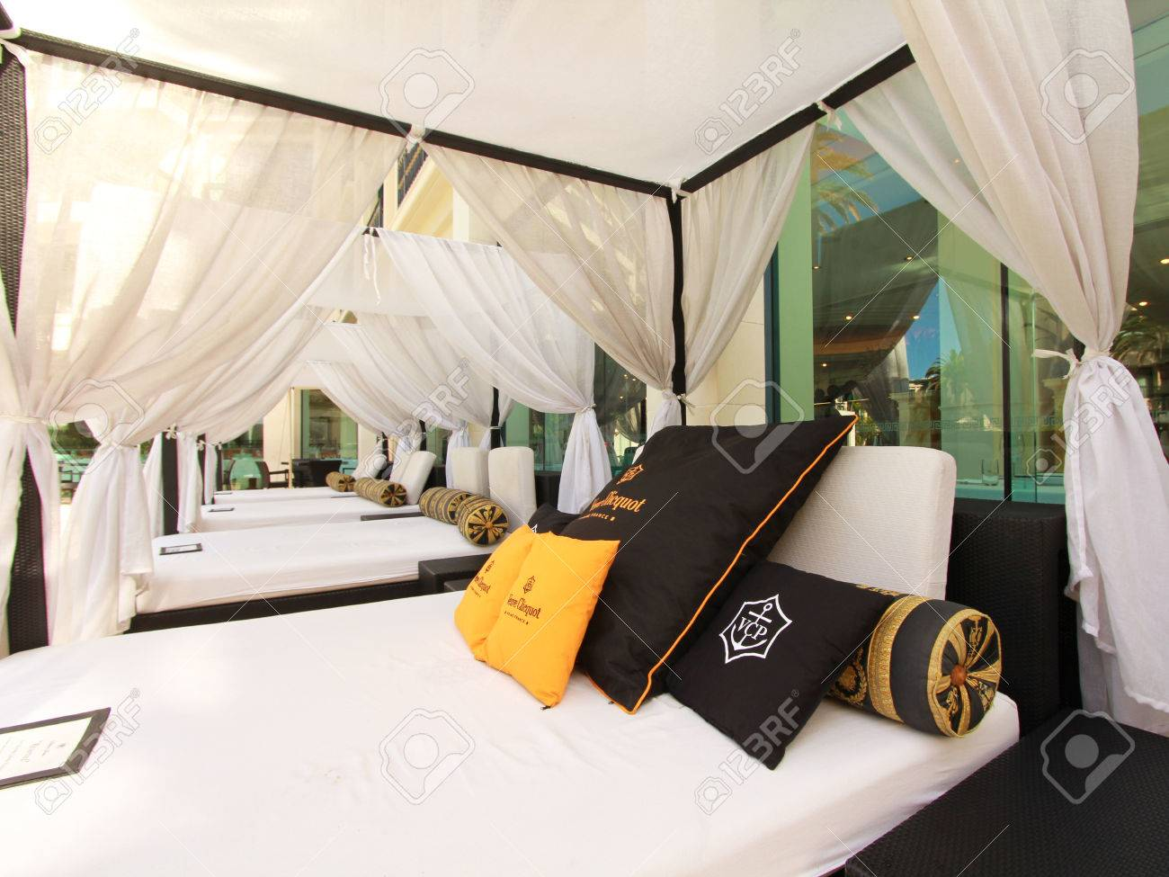Outdoor bed cabana - Gold Coast Australia December 2 2012 Outdoor Bed In A Cabana Beside A