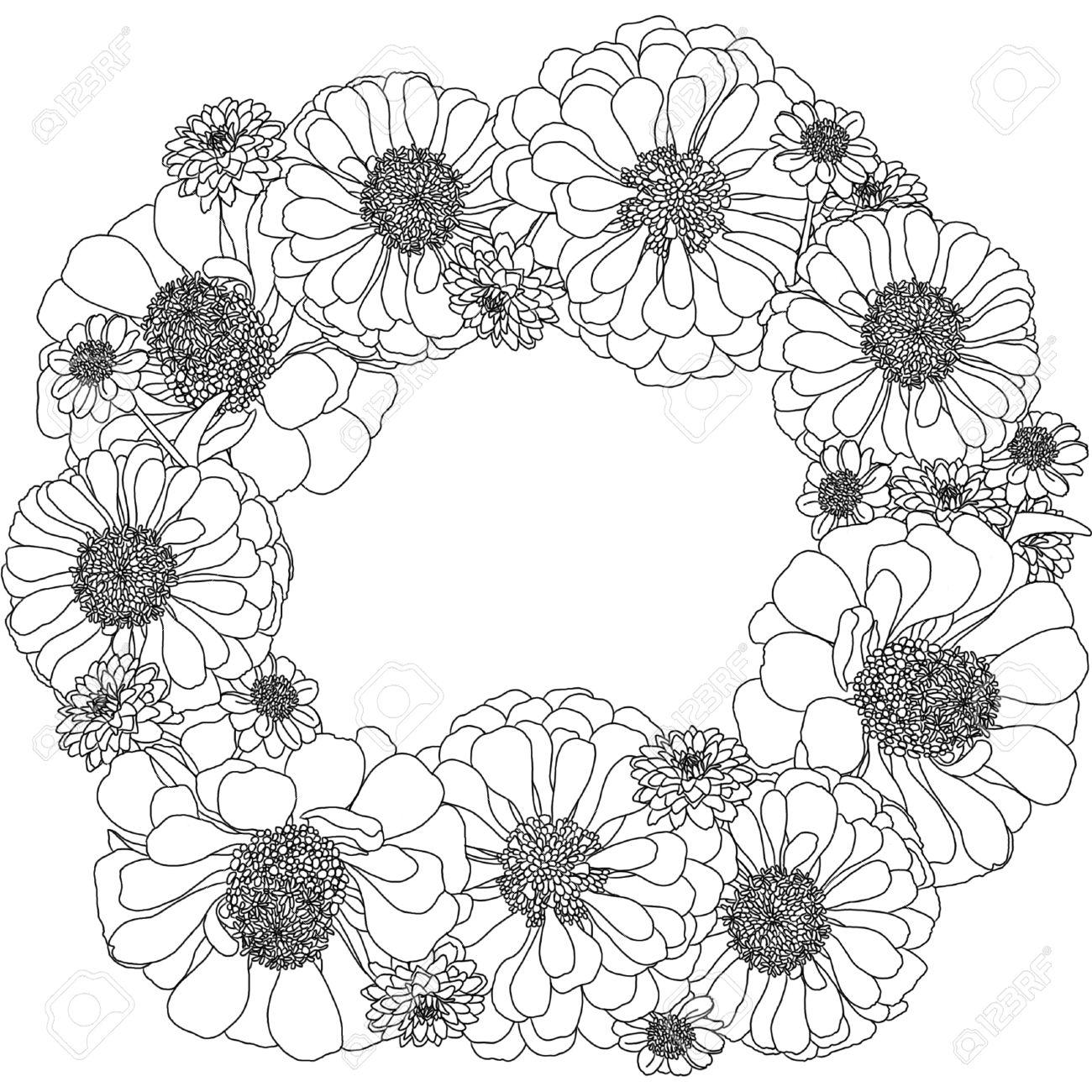 banque dimages dcrire couronne dessin de fleurs