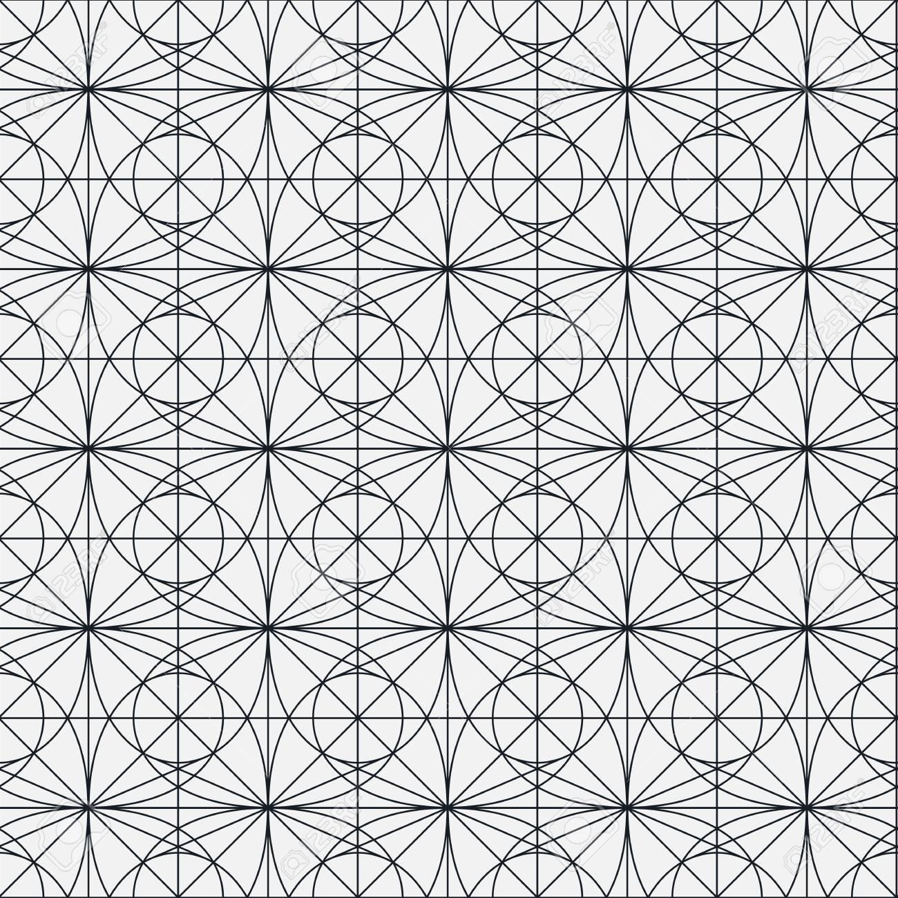 Disegno Geometrico Senza Soluzione Di Continuità Vector Ripetere