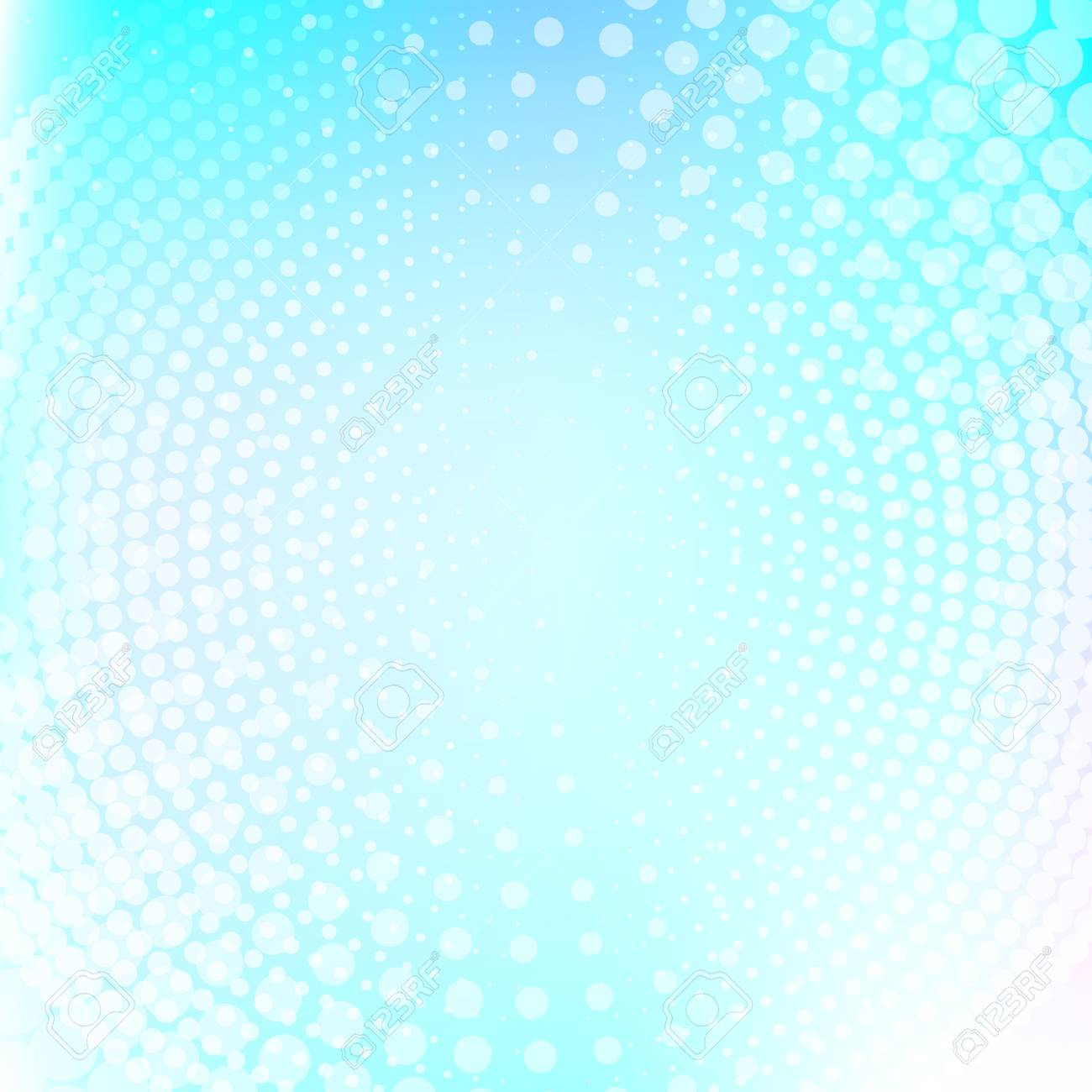 Abstract Halftone Dotted Light Blue Color Texture Vector Background
