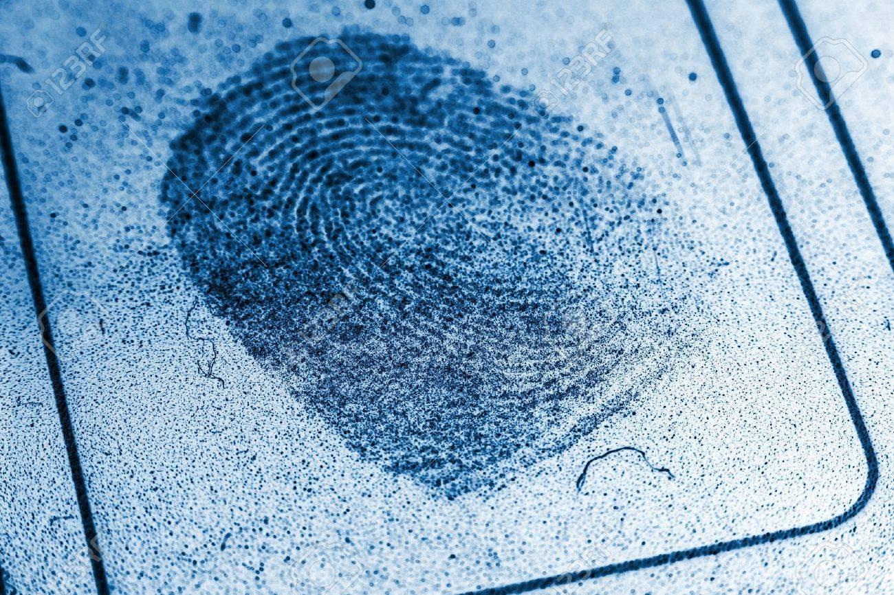 Dusty Fingerprint Record Stock Photo - 8355210