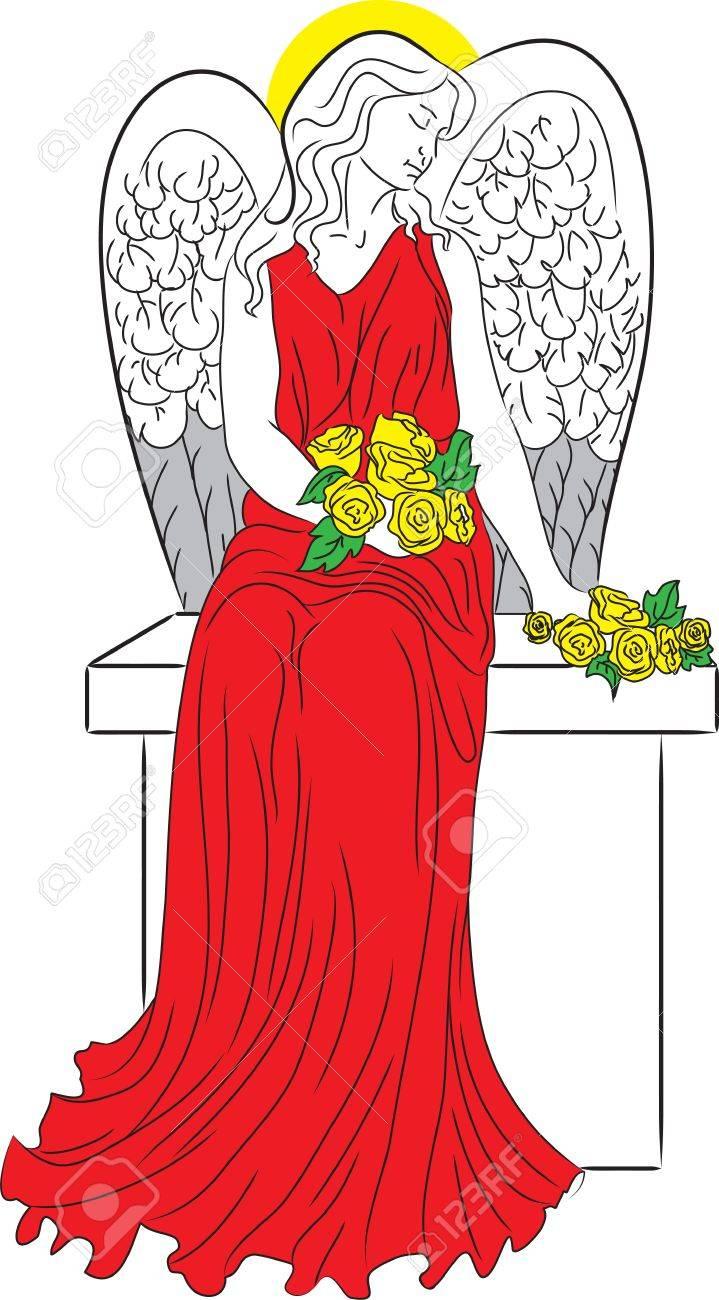 Angel with nimbus Stock Vector - 16061688