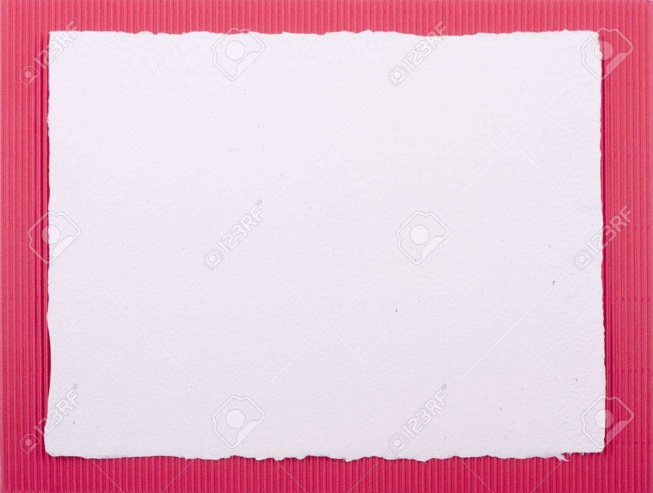 Colored Cardboard Background With Handmade White Paper Frame.. Stock ...