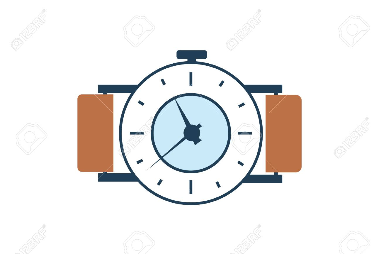 vector brown watch illustration royalty free cliparts vectors and rh 123rf com watch victorious online free watch victorious season 2