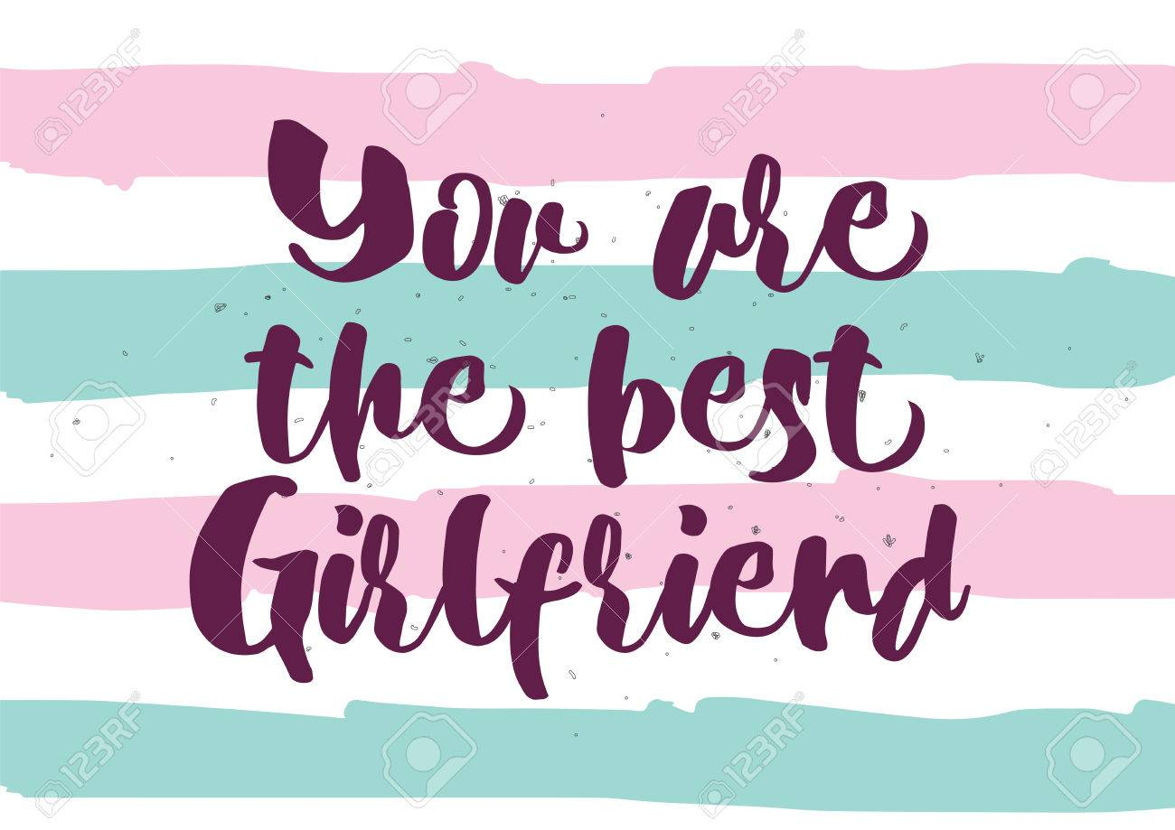 You Are The Best friend Inscription. Greeting Card With ...