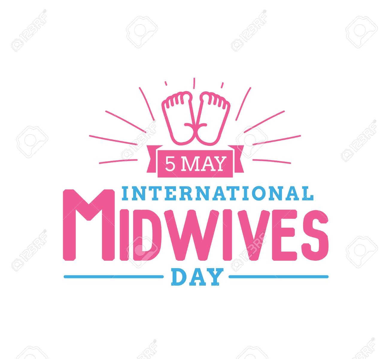 International Midwives Day 5 May Vector Typography For Greeting