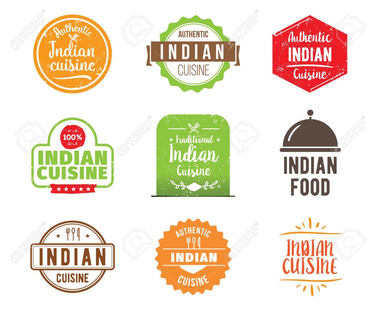 Cocina India, Comida Tradicional Auténtico, Se Encuentra El Diseño ...