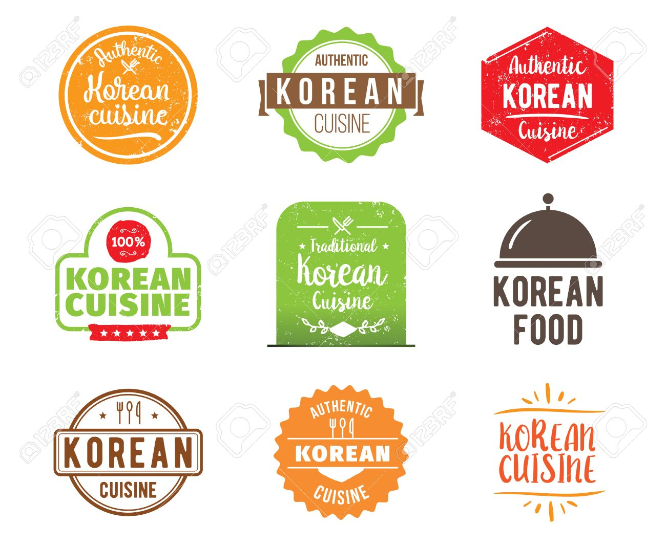 Korean Cuisine Authentic Traditional Food Typographic Design Royalty Free Cliparts Vectors And Stock Illustration Image 58461635