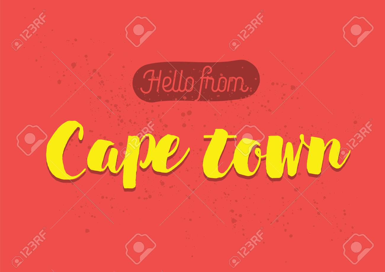 Hello From Cape Town South Africa Greeting Card With Typography