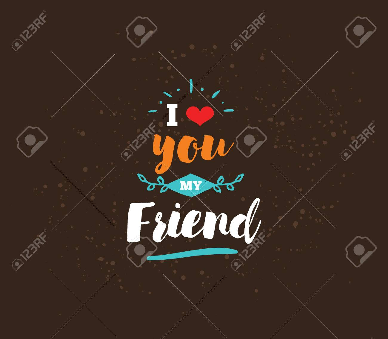 Image of: Funny Happy Friendship Day Vector Typographic Design Inspirational Quote About Friendship Usable As Greeting Cards People Info Happy Friendship Day Vector Typographic Design Inspirational