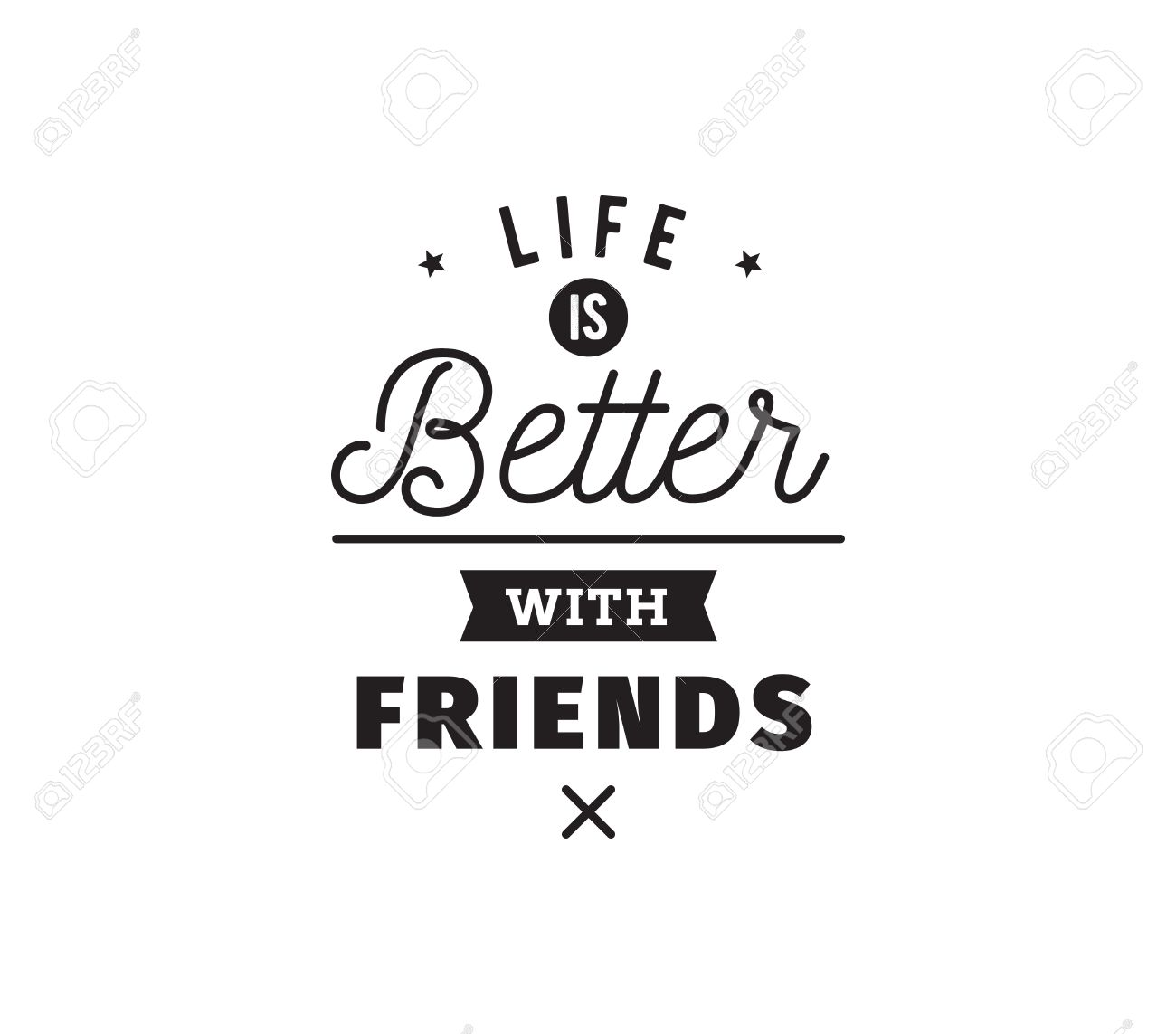 A Quote About Friendship Happy Friendship Day Vector Typographic Designinspirational