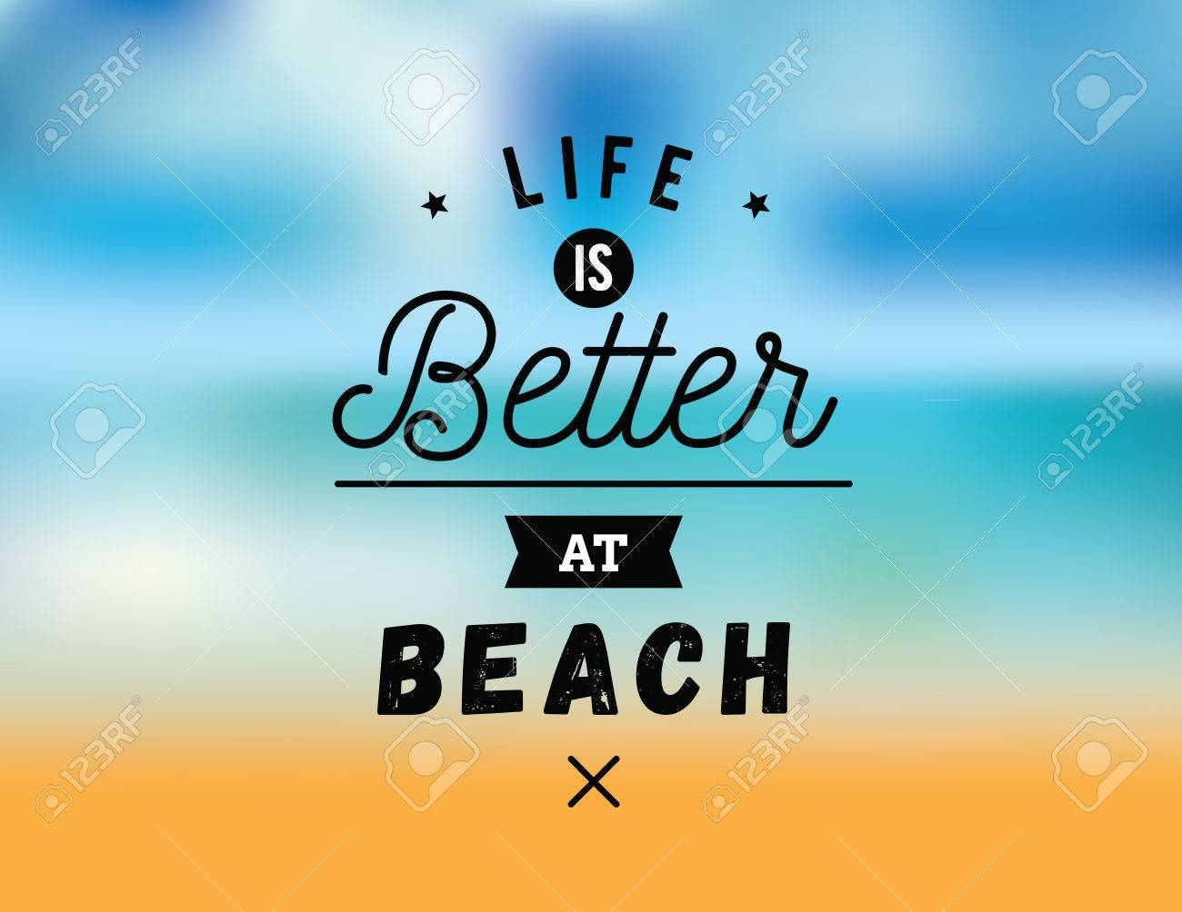 Life is better at beach creative romantic inspirational quote life is better at beach creative romantic inspirational quote vector graphic text kristyandbryce Gallery