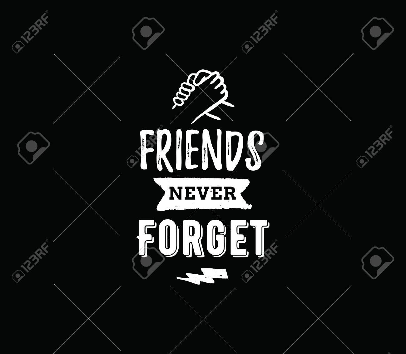 happy friendship day vector typographic design inspirational