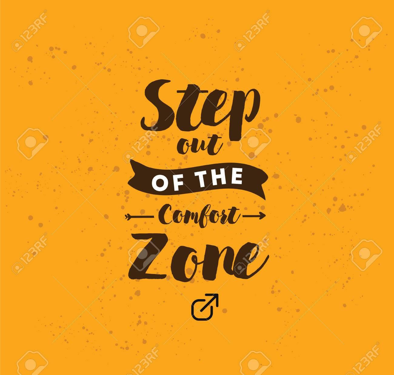 Al Salir De La Zona De Confort Cita Inspirada Motivación La Tipografía Para El Cartel Invitación Tarjeta De Felicitación O Una Camiseta Letras
