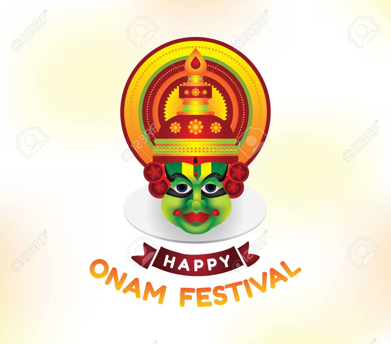Happy Onam Background Traditional Festival In Kerala South India