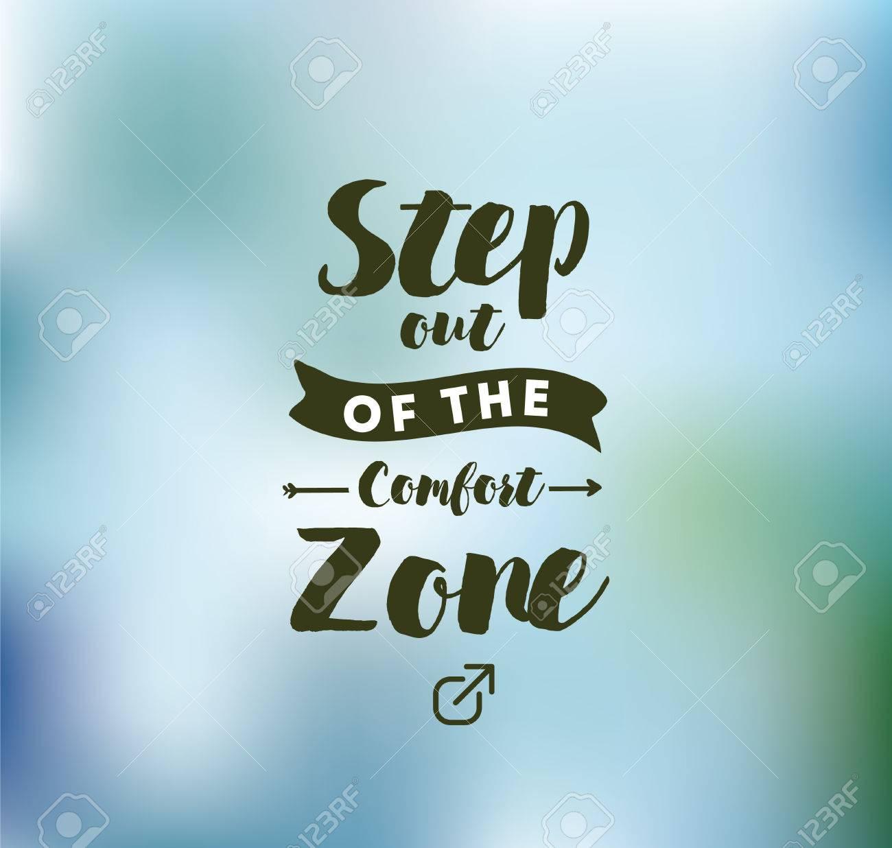 Al Salir De La Zona De Confort Cita Inspirada Motivación La Tipografía Para El Cartel Invitación Tarjeta De Felicitación O Una Camiseta
