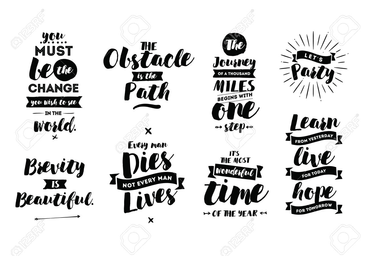 Inspirational Quotes Set Motivation Typography For Posters