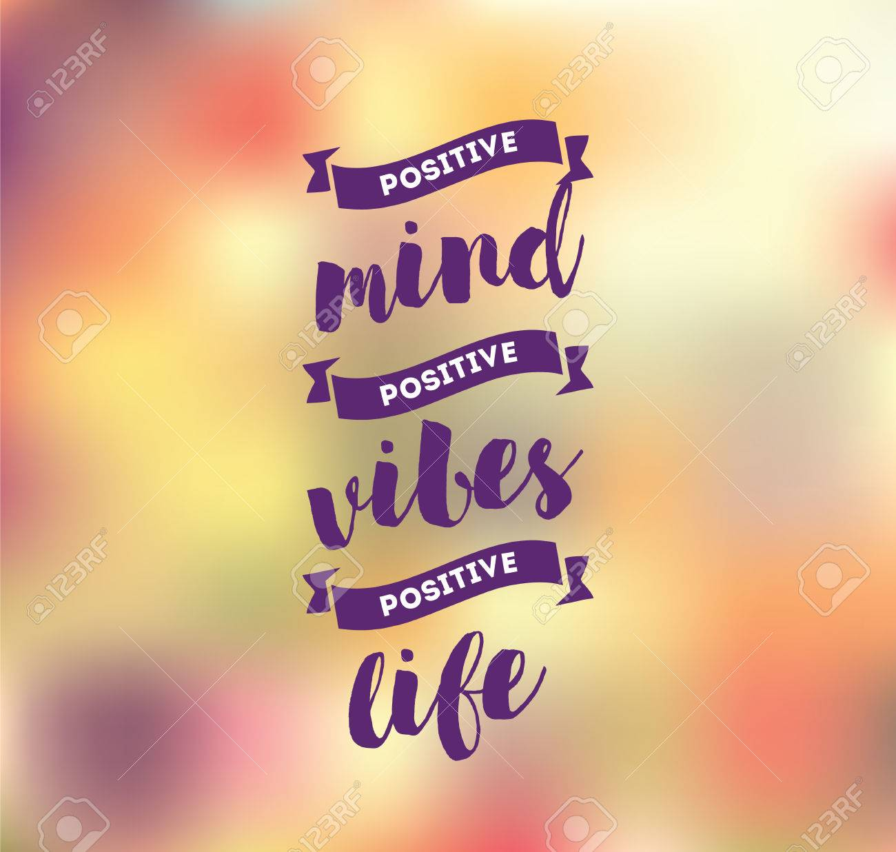 Positive mind, positive vibes, positive life  Inspirational quote,