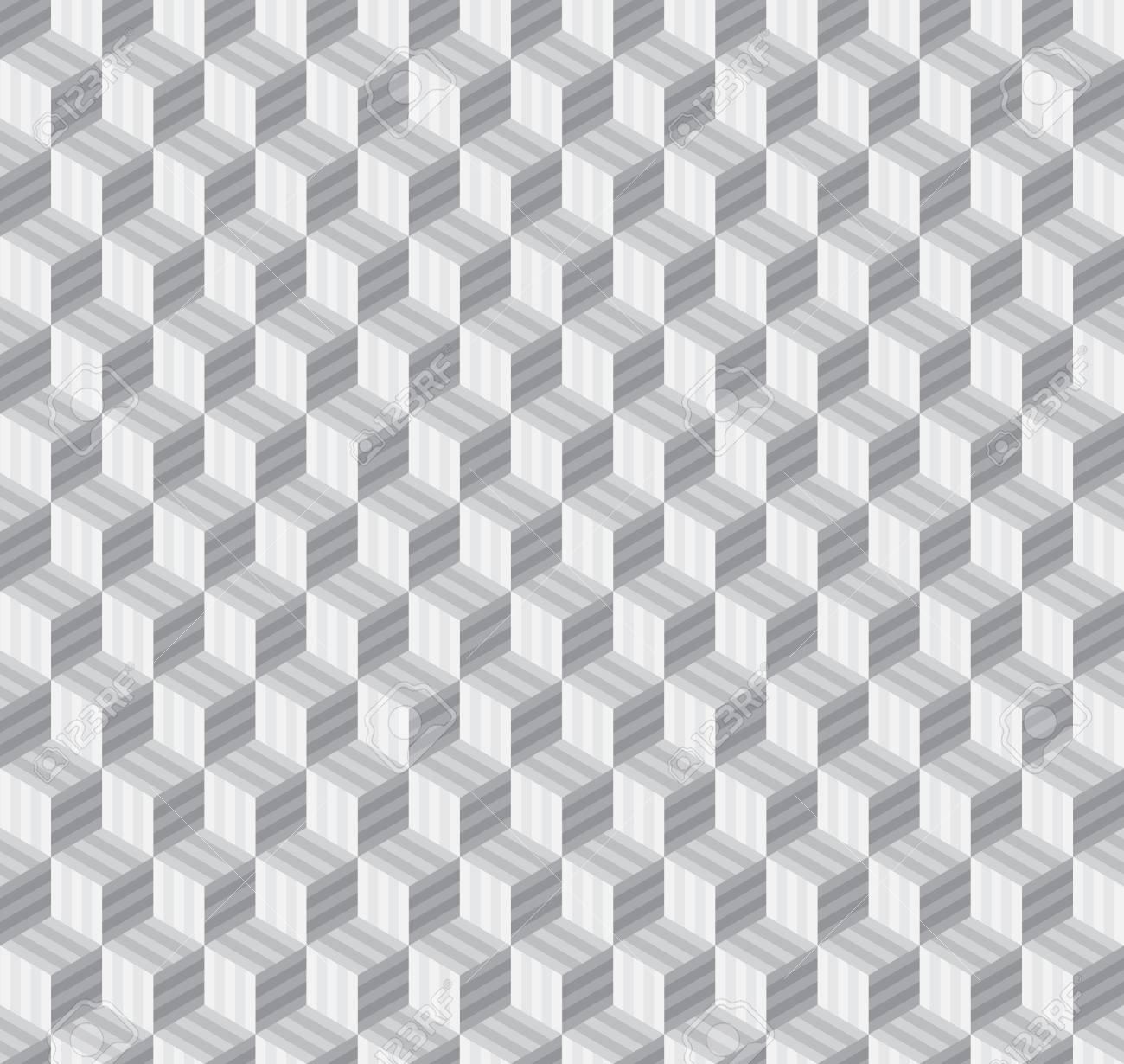 Línea De Forma Geométrica Abstracta Patrones De Costura Cubo ...