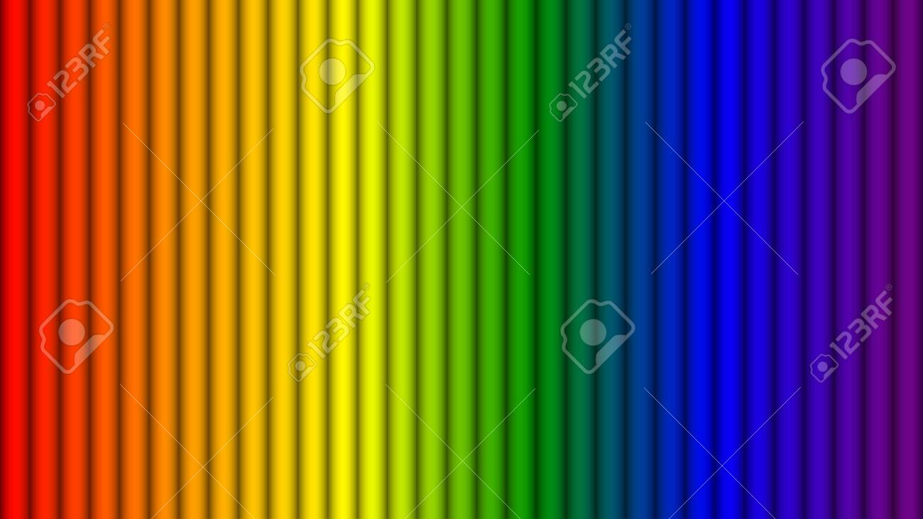 Abstract rainbow colors stripes background, Vector illustration - 134725623