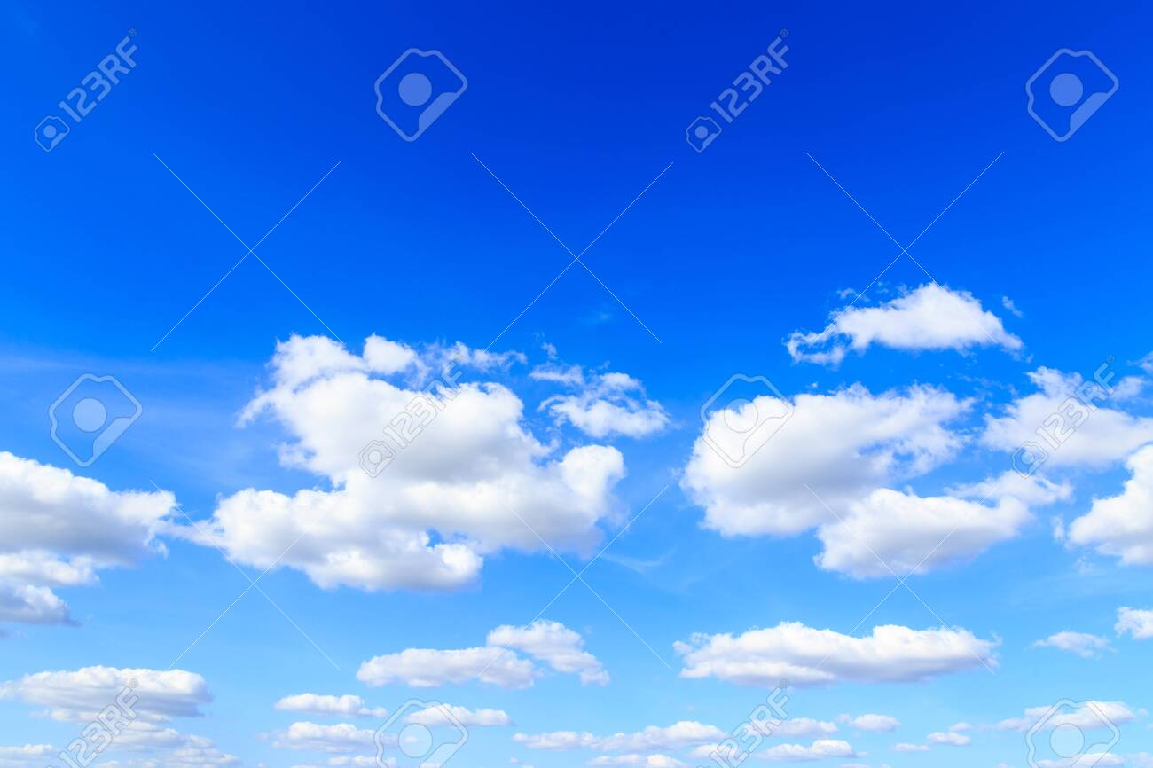 Blue sky background and white clouds in sunny day - 120619320
