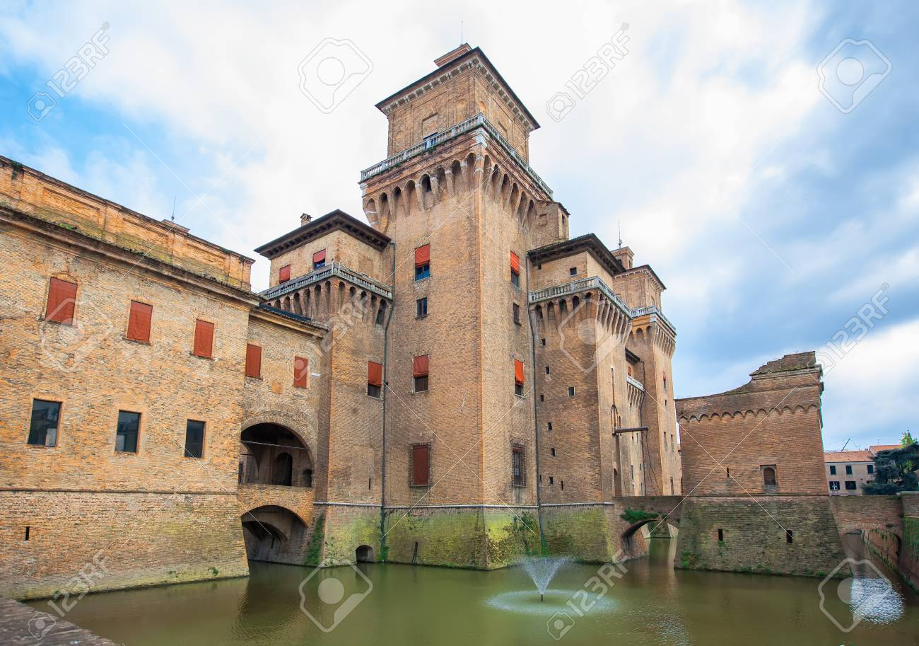 Castello Estense Or St Michaels Castle Is A Moated Medieval