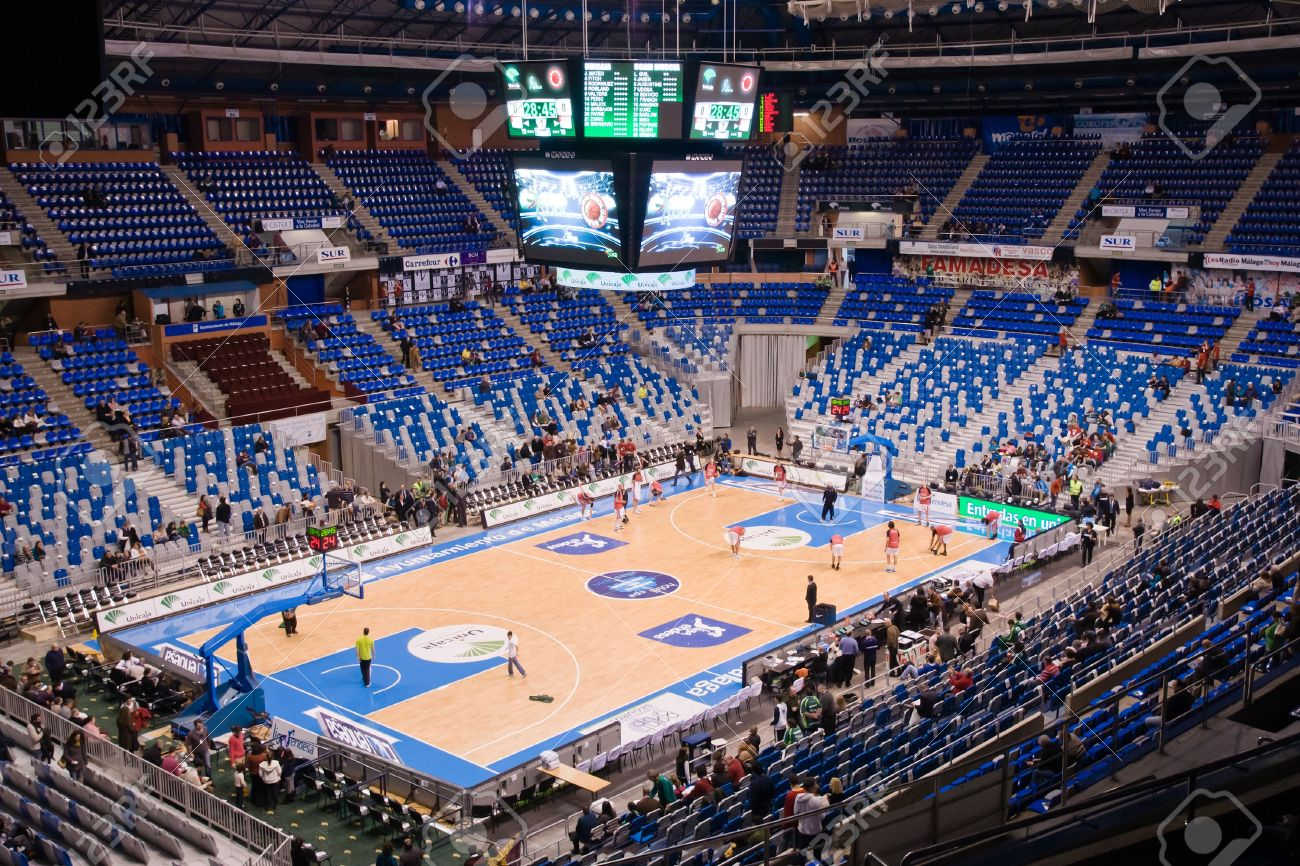Malaga Spain January 14 Unicaja Malaga Against Ucam Murcia