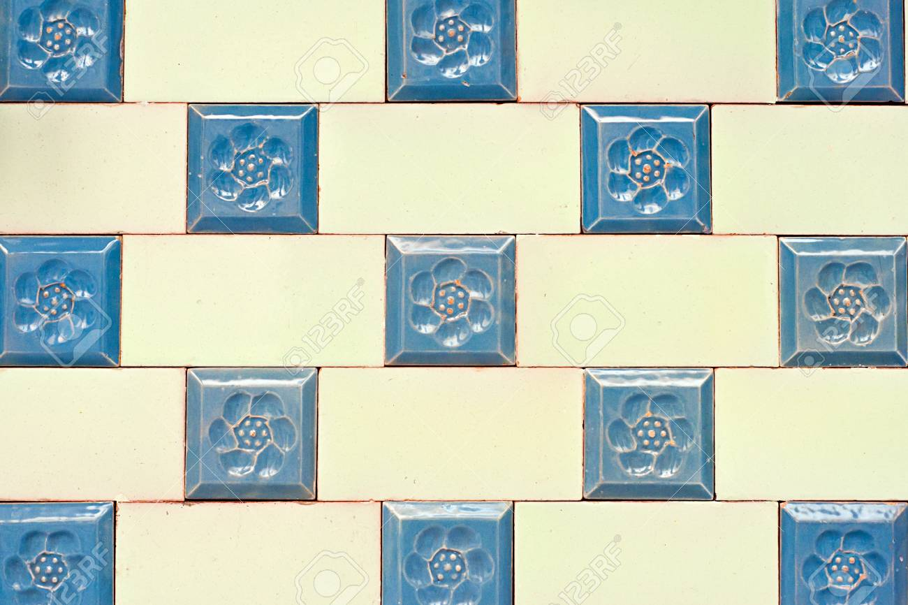 Old Spanish Ceramic Tiles Wall Decoration Stock Photo, Picture And ...