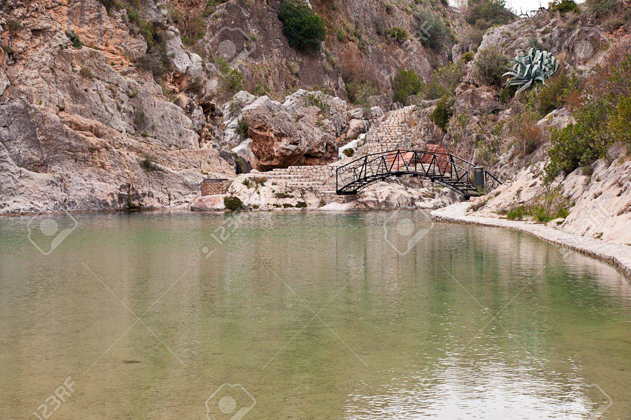 little lake in Bolbaite, Valencia, Spain Stock Photo - 14781927