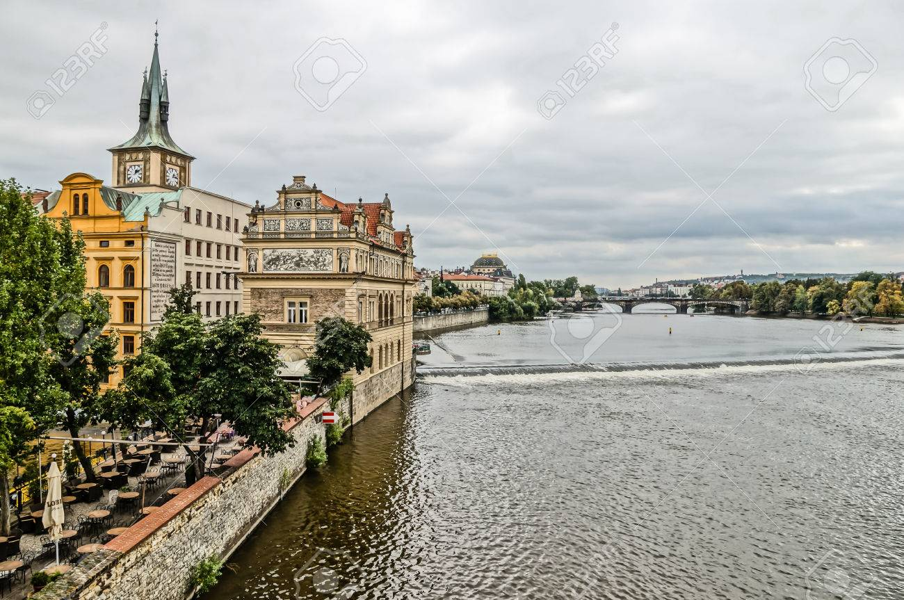 Moldova River In Prague Czech Republic Stock Photo Picture And - Czech river