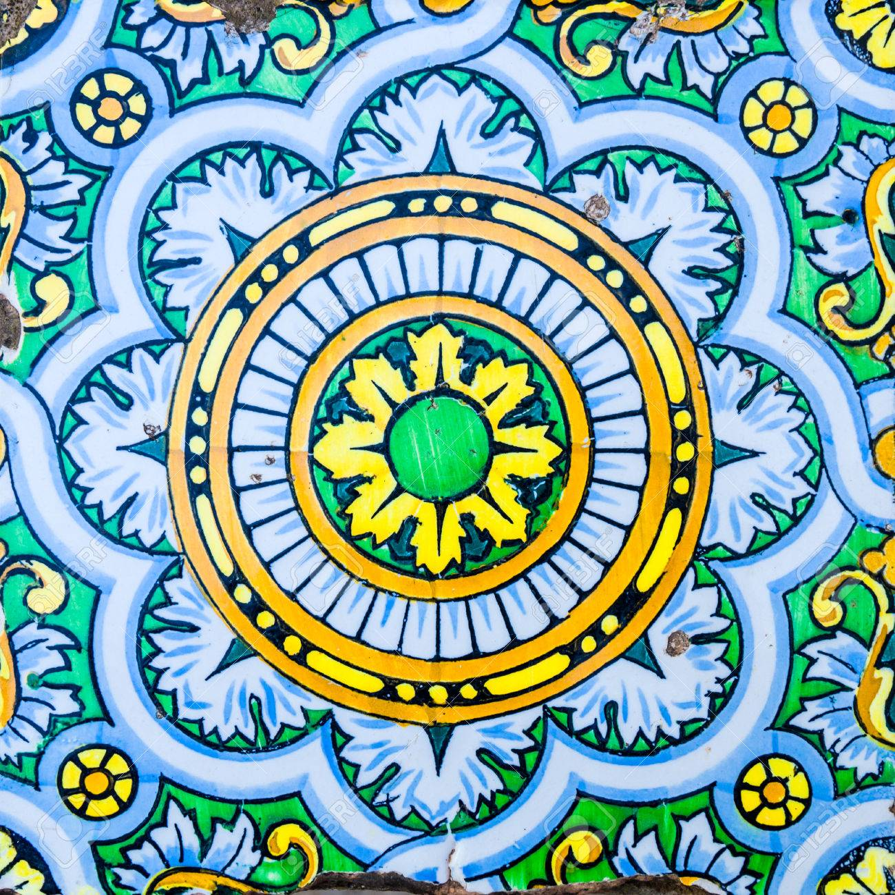 Vintage Spanish Tile Stock Photo Picture And Royalty Free Image