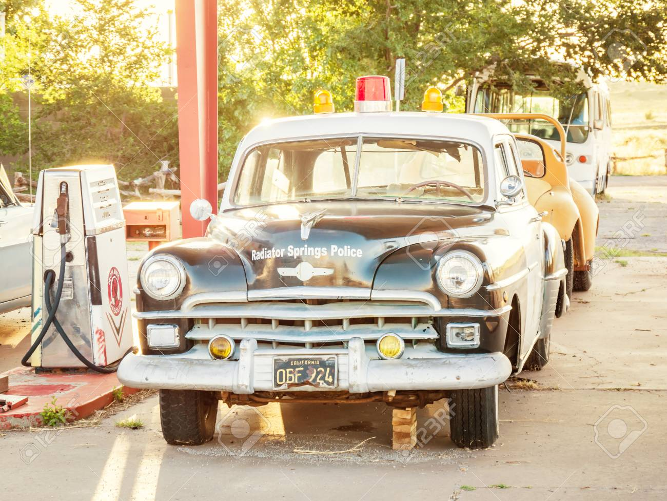 PEACH SPRINGS, USA - SEPTEMBER 06: Old Cars In Historic Route ...