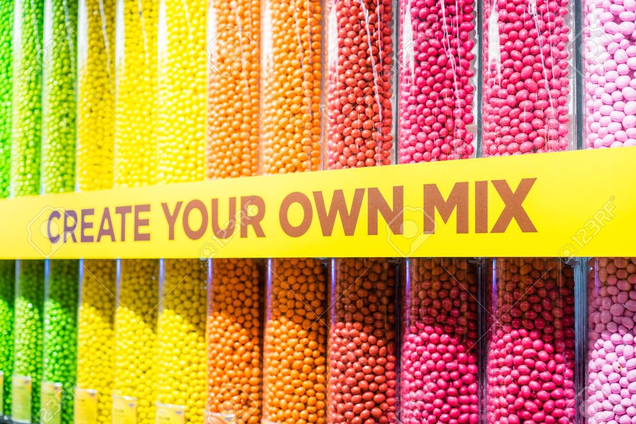 LONDON, UK - 17 FEBRUARY, 2017: M&M's World store.It is the world's largest candy store, at 3250 sq metres. - 105372957