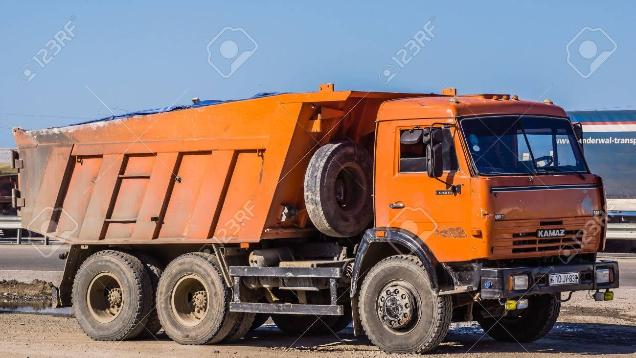 Zarat - Azerbaijan13, 2012: Old Kamaz Truck By The Highway. Kamaz ...