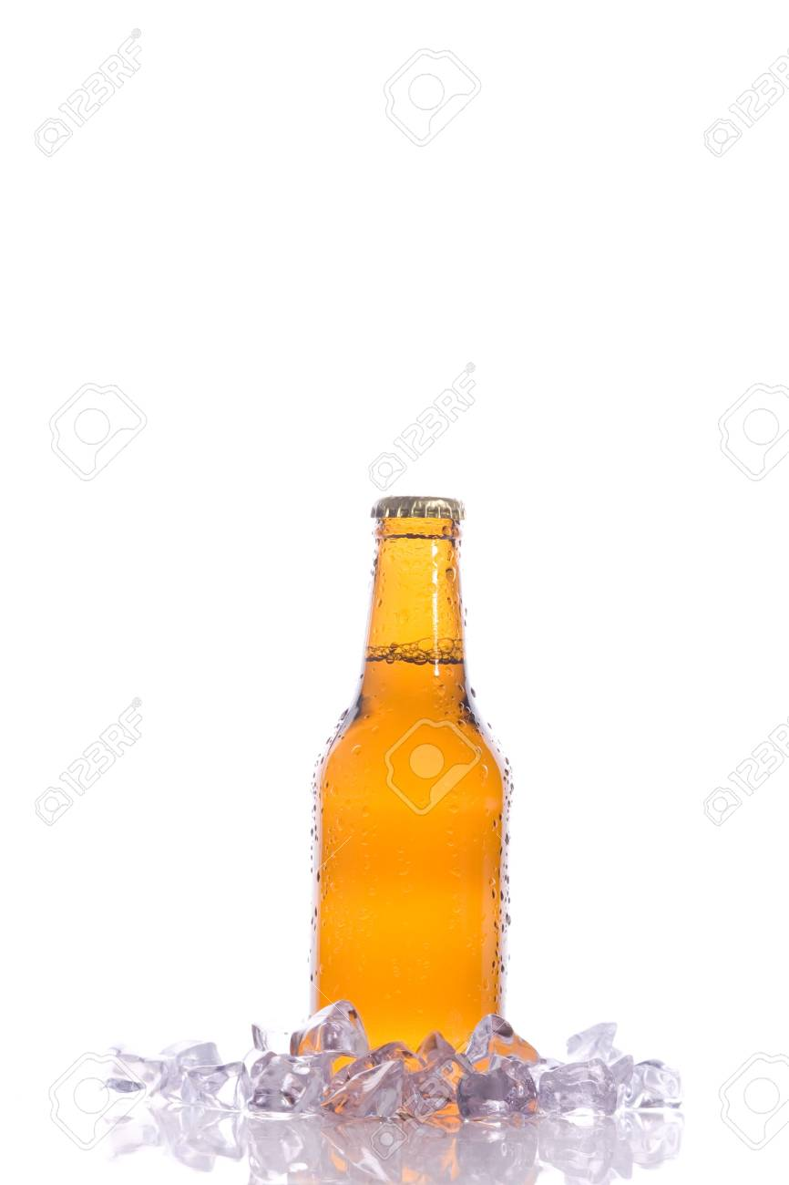 A isolated fresh beer with ice Stock Photo - 3937035