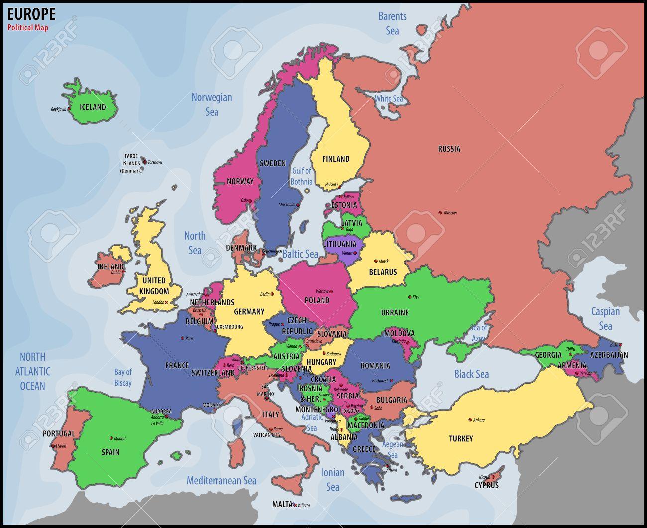 Mapa De Europa Politico.Europa Mapa Politico