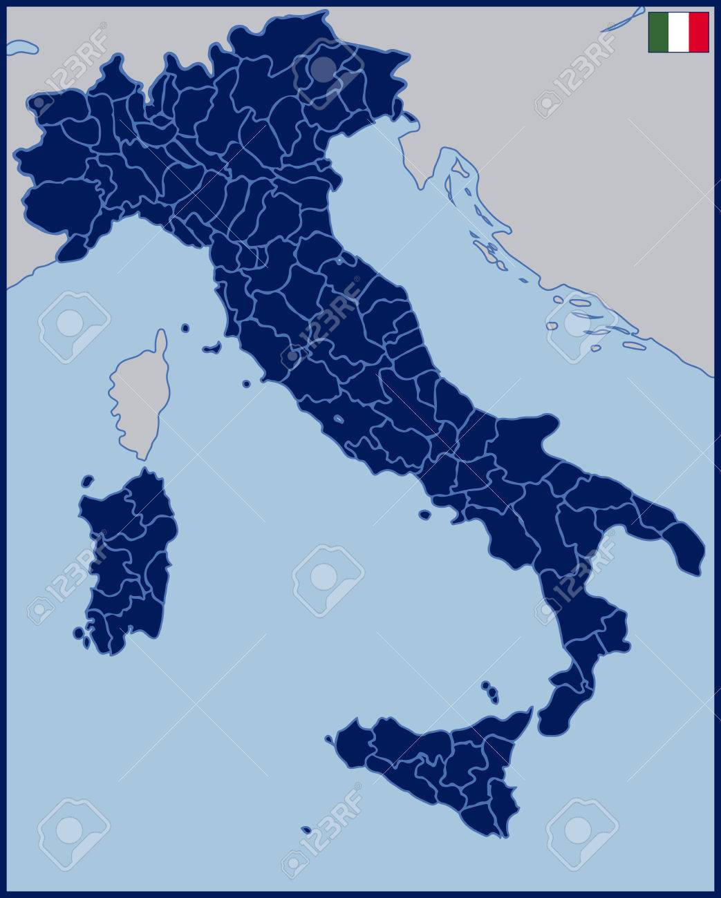 Blank Map Of Italy Royalty Free Cliparts Vectors And Stock