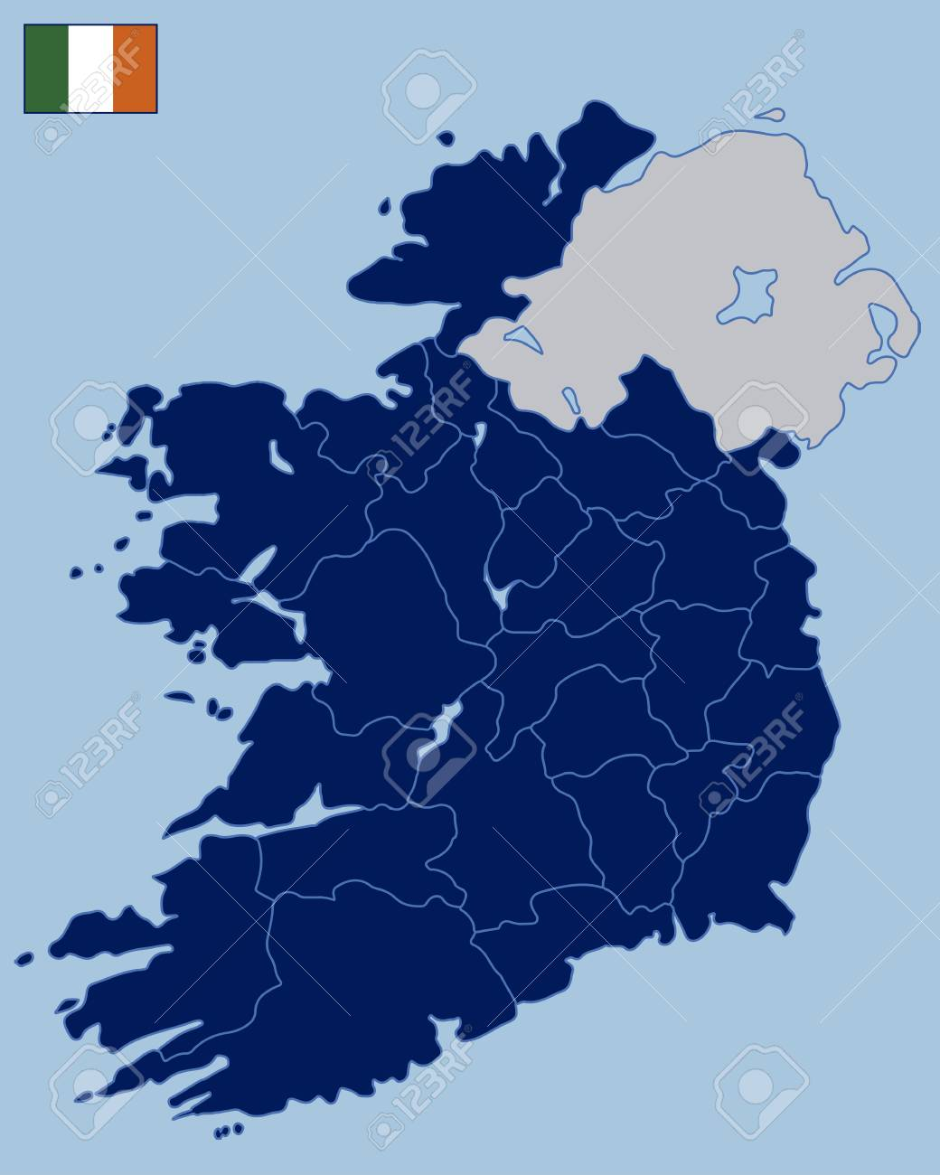 Blank Map Of Ireland.Blank Map Of Republic Of Ireland Royalty Free Cliparts Vectors And