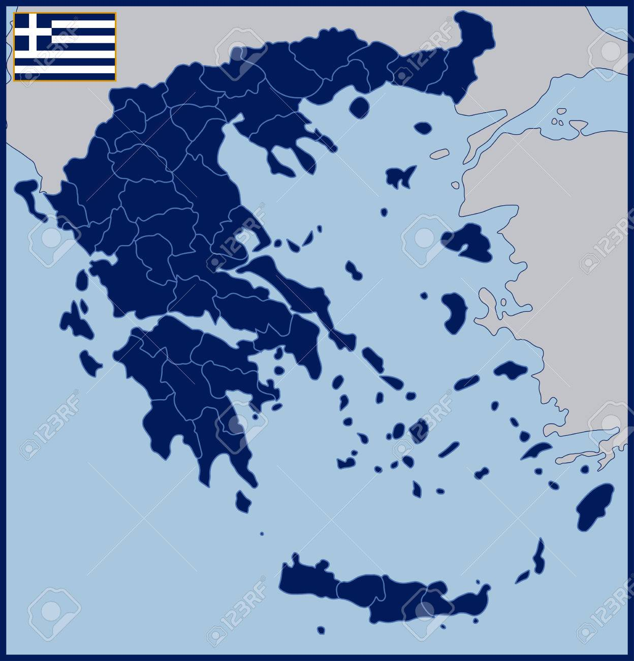 Blank Map Of Greece Royalty Free Cliparts Vectors And Stock
