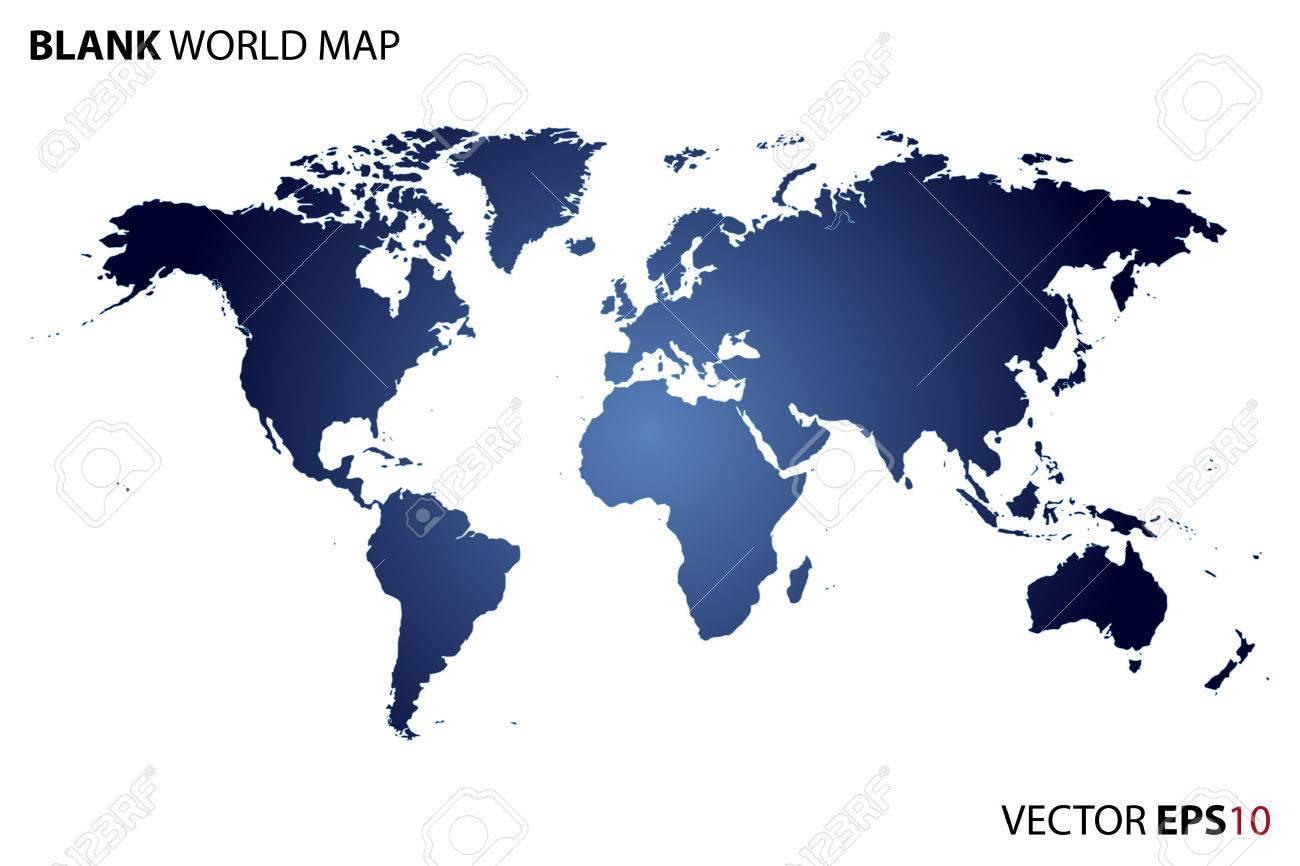 Blank world map royalty free cliparts vectors and stock blank world map stock vector 52397106 gumiabroncs Images