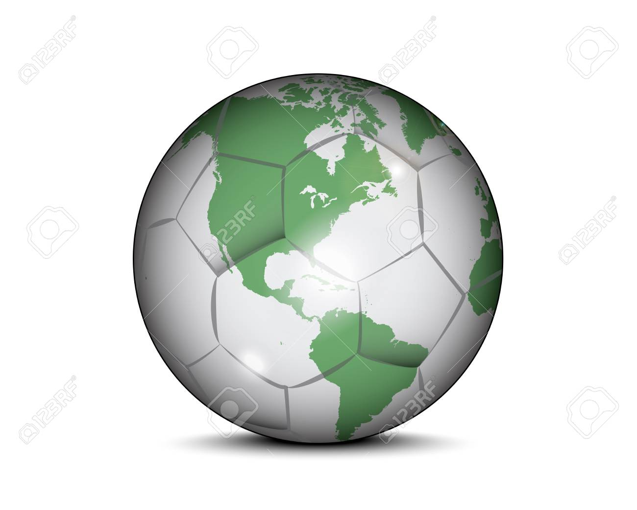 Soccer ball with world map royalty free cliparts vectors and stock soccer ball with world map stock vector 52399503 gumiabroncs Gallery