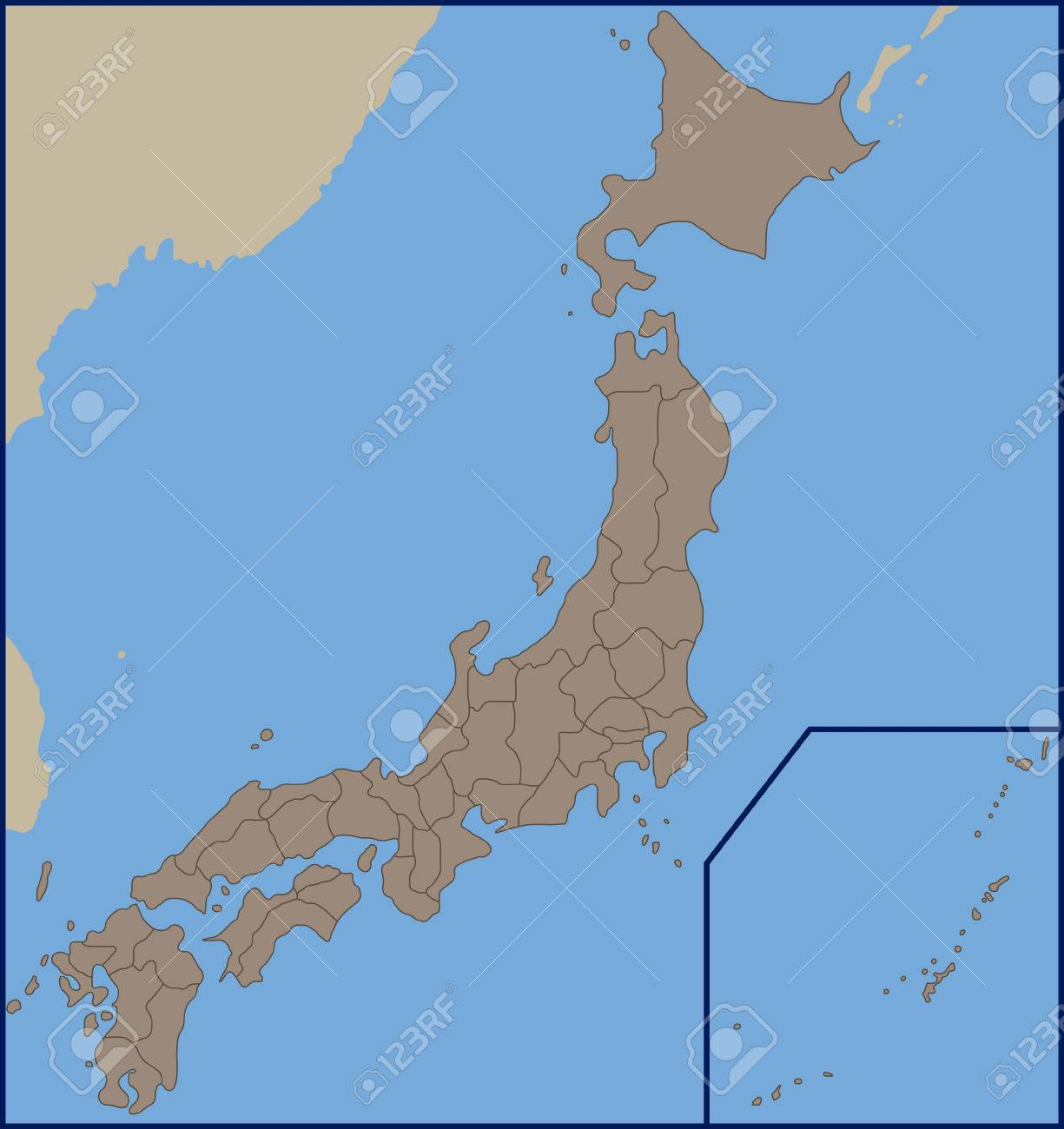 Empty political map of japan royalty free cliparts vectors and empty political map of japan stock vector 57221324 gumiabroncs Gallery