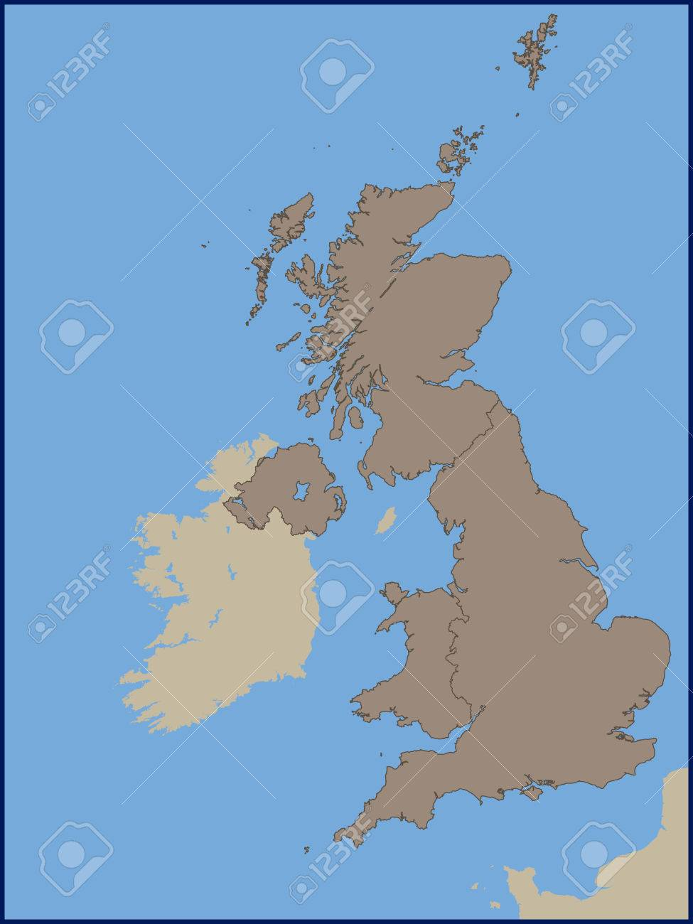 Political Map Of Uk.Empty Political Map Of Uk Royalty Free Cliparts Vectors And Stock