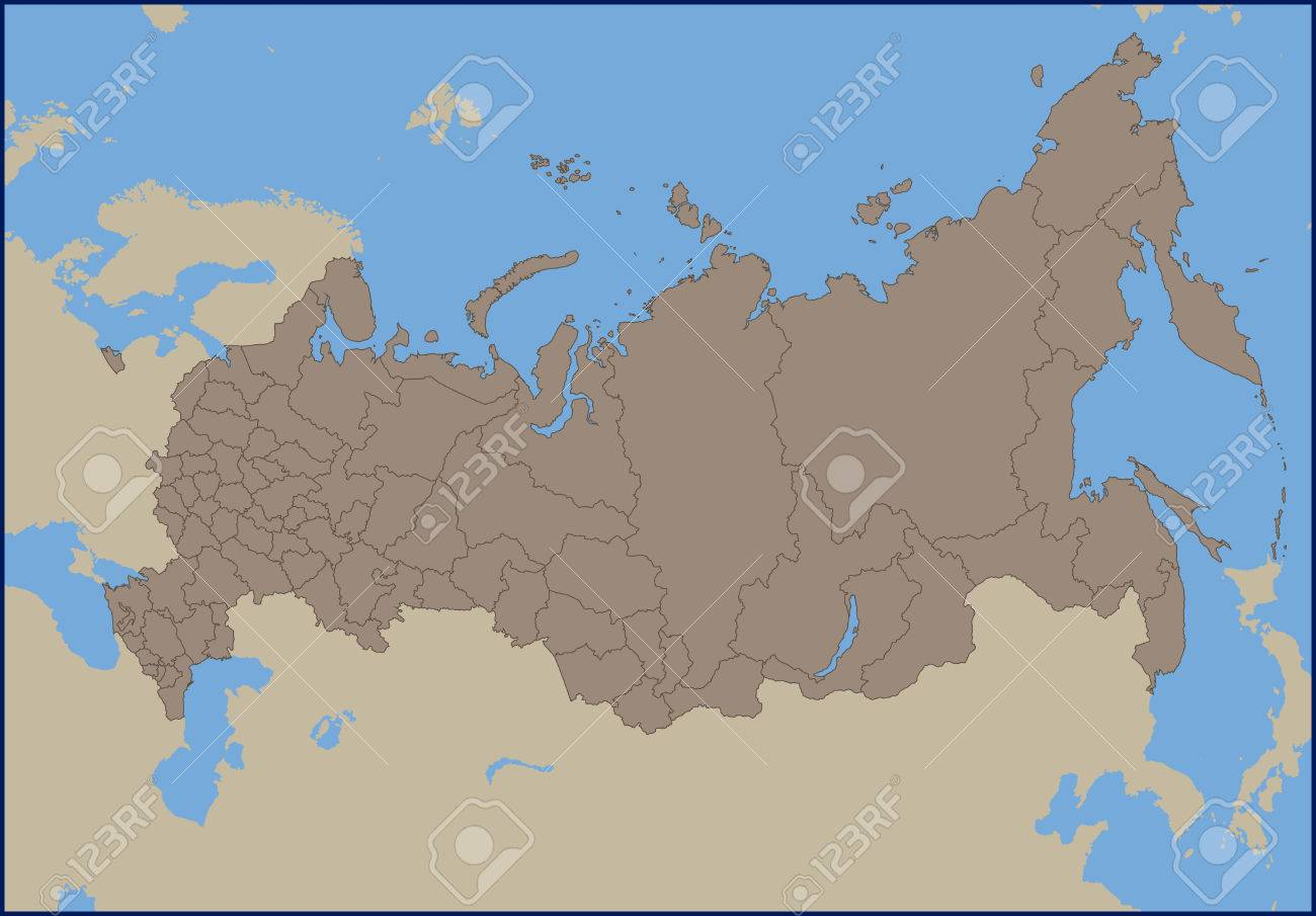 Empty political map of russia royalty free cliparts vectors and empty political map of russia stock vector 58292919 gumiabroncs Image collections