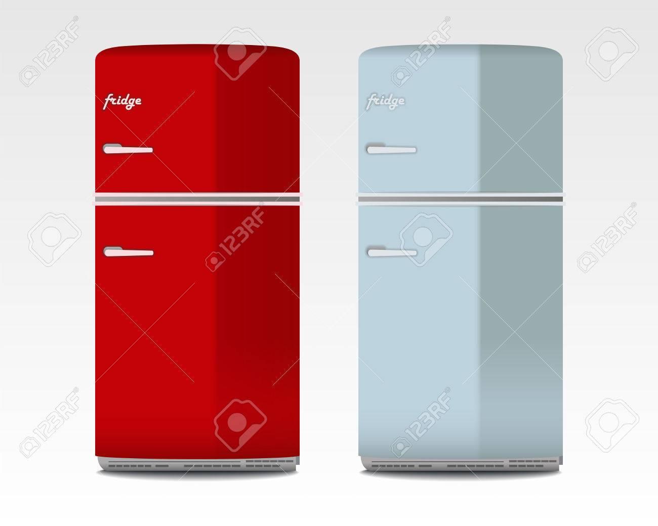 Retro Kühlschränke Lizenzfrei Nutzbare Vektorgrafiken, Clip Arts ...
